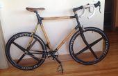 Bicicleta de carbono de bambú