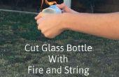 Cortar botella con fuego y cadena