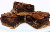 Brownies de caramelo fondo