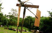 Las láminas de turbina de bambú del viento