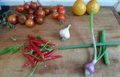 Salsa picante de jardín