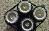 1000 lumen + bicicleta luz de linternas de $7