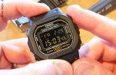 Cómo convertir un plano G-Shock DW-5600 con un indicador negativo