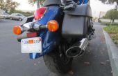 Mostrar una motocicleta permiso de estacionamiento sin dañar la pintura!