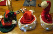 La Navidad Santa y duende LED sombreros