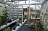 La hidropónica, automáticos, redes, clima controlado invernadero proyecto: Construcción