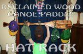 Reciclado madera canoa remo maletero