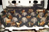 Fuego de arranque de los granos de café utilizados
