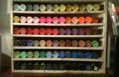 DIY arte pintura pantalla de organizador de madera