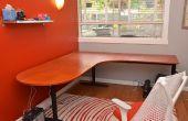 Restauración de un escritorio viejo con una nueva superficie de laminado