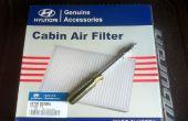 Cómo reemplazar el filtro de aire de la cabina en el Hyundai Tiburon 2008