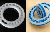 Cojinete de bolas de impresión 3D en una sola toma
