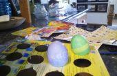 Cómo tener escrito en un huevo teñido