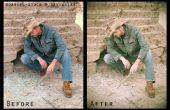 Cómo convertir una cosecha moderna foto utilizando Photoshop