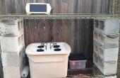 Pequeña escala sistema hidropónico Solar al aire libre