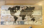 Plataforma extra láser madera grabado mapa