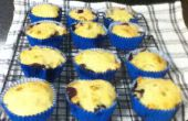 Baja grasa, azúcar plátano libre y Muffins de arándanos