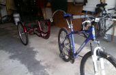 Convierte 3 ruedas trike adulto en remolque de bicicleta para baratos!