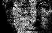 Transformar un rostro en un retrato de gran alcance del texto en Photoshop