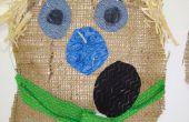 Decoración de la cabeza del espantapájaros: proyecto de arte escuela primaria