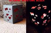Bloque de Redstone encendida Minecraft