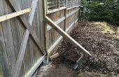 Sistema de refuerzo - la cerca como postes de apoyo