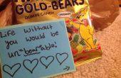 "Regalo de dulces con un juego de palabras de ""Dulce""! : D"
