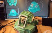 Funcionamiento de la impresora 3D de Zcorp 450 muelle 9