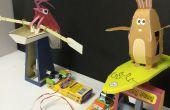 Juego de carreras de autómatas de papercraft littleBits circuito