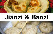 Baozi (bollos cocidos al vapor rellenos de chino) y Jiaozi (empanadillas chinas) desde cero