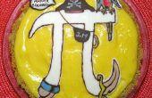 Tasa de (pi) pastel de crema de plátano