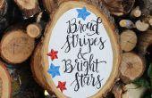 Stars & Stripes patriótico rebanada de madera!