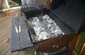 Recambio de carbón bandeja o recipiente para una parrilla de carbón
