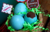 Rellenas de chocolate huevos y FunTags