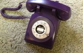 Púrpura teléfono rotatorio