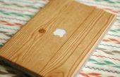 Portátil de grano de madera DIY envolver