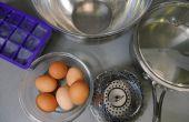 Huevos duro cocinar con vapor