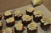 Cupcakes de calabaza helado de Chocolate blanco