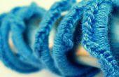 Ondas azules: Forrado en Crochet auriculares