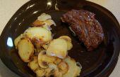 Impresionante barbacoa patatas y setas