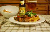 Lento cocinado conejo cerveza belga guisado
