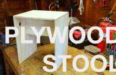 Taburete de madera contrachapada simple