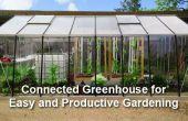 Un invernadero conectado para jardinería fácil y productivo