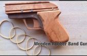 Pistola de goma de madera