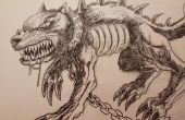 Cómo dibujar un perro del demonio