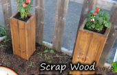 Chatarra madera jardín jardineras