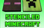 Stencil y aerosol tus propios lienzos de Minecraft para barato!