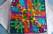 Página para colorear adultos (arte Radial)