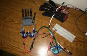 Guante de control mano robótica - versión barata y Simple