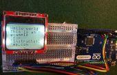 Escribir mensajes en una pantalla nokia5110 con arduino.
